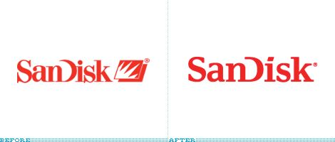 SanDisk Logo, Before and After