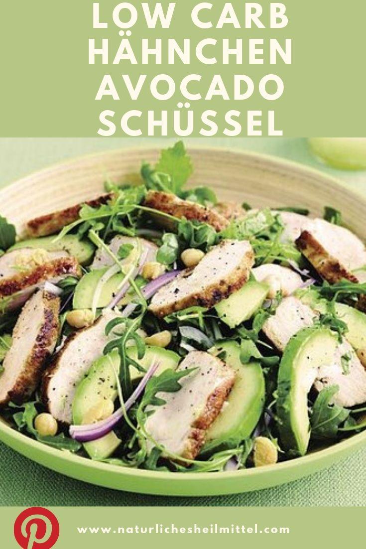 Low Carb Chicken Avocado Bowl   – Gesunde Rezepte