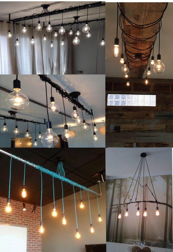 9 Lámpara colgante envolver un tubo o barra de por HangoutLighting