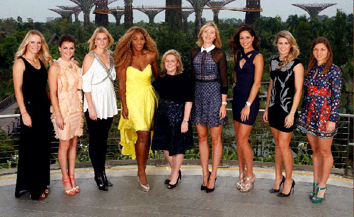 Sharapova; Selena Williams,  Petra Kvitová, Caroline Wozniacki, Agnieszka Radwanska, Ana Ivanovic (Foto: Getty Images)