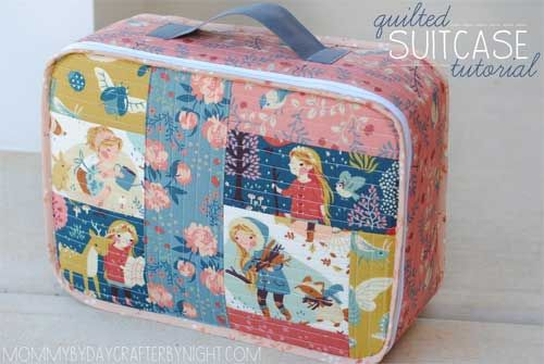 Using an easy Quilt As You Go method, learn how to make this cute fabric suitcase.