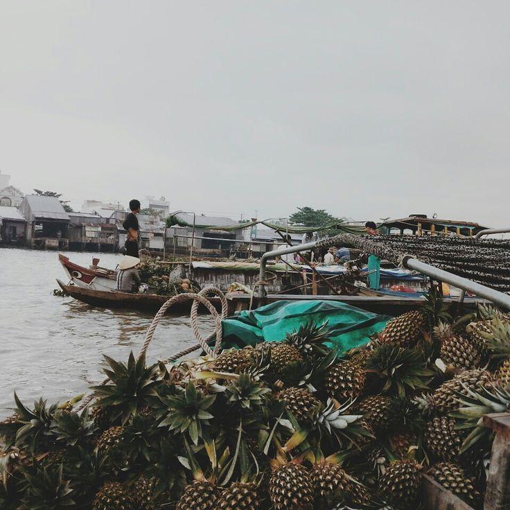 Floating market in the Mekong Delta #Vietnam