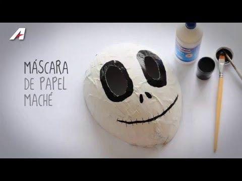 Hazlo con Artesco - Máscara de Papel Maché - YouTube