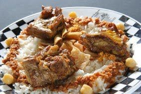 Rice and meat Fattah (Egyptian) by Madam Salamony In English
