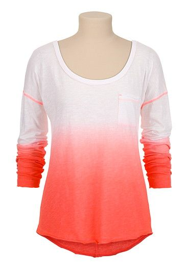 Drop Shoulder Ombre long sleeve tee (original price, $24) available at #Maurices -Alicia