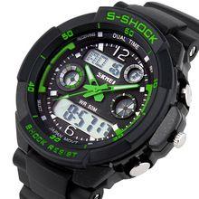 2014 Skmei 0931 Hombre deportes Militares relojes Marca popular Casual Reloj de pulsera Relojes digitales de hombres  (Verde) Fácil Venta(China (Mainland))