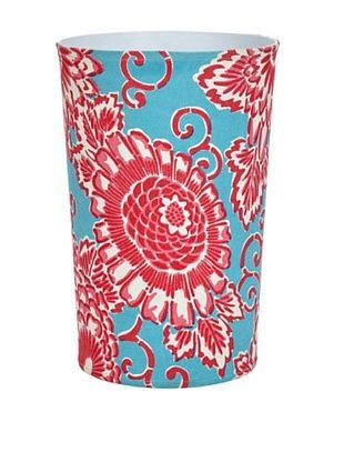 65% OFF Malabar Bay Spring Bloom Canvas Wastebasket, Aqua
