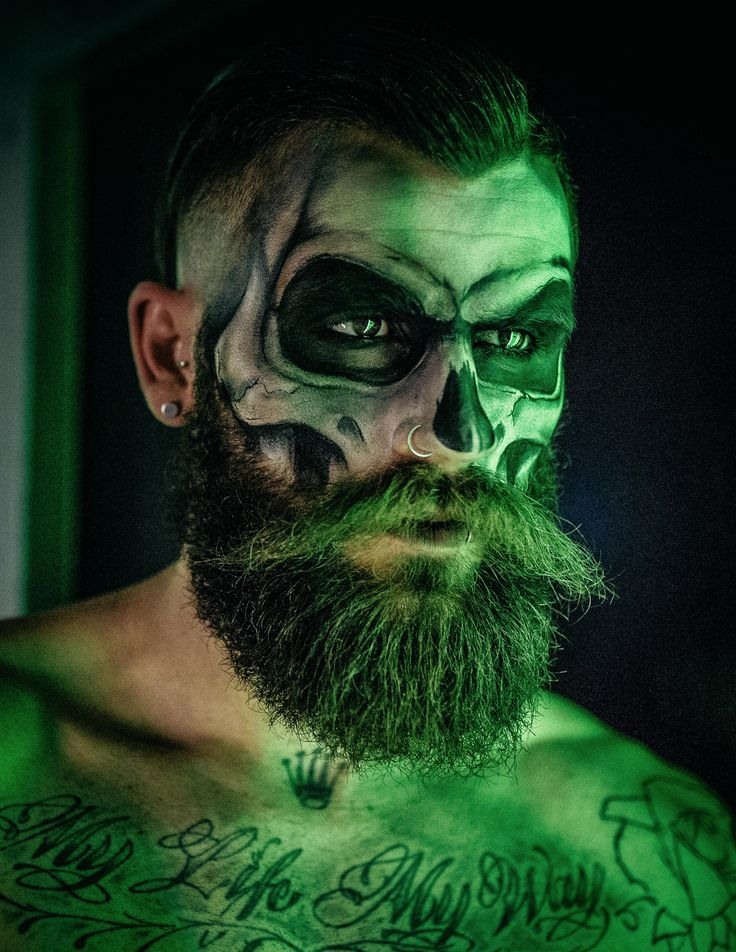 skull make up with beard - Pesquisa Google