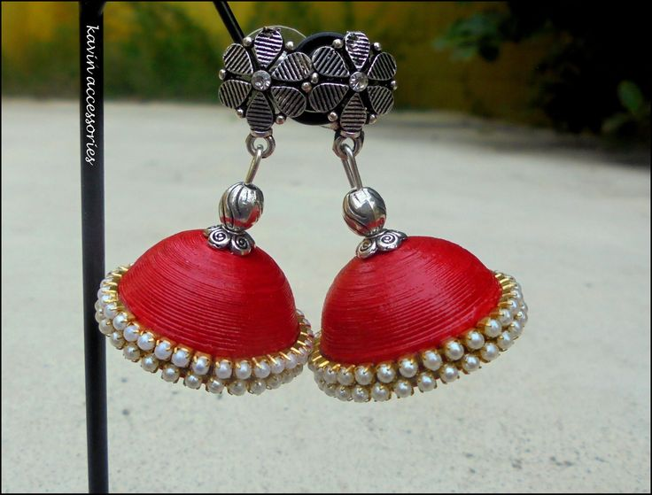 Red jhumka  #kavinaccessories#