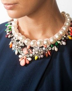 Glam & Pearl Necklace multi glamand pearl