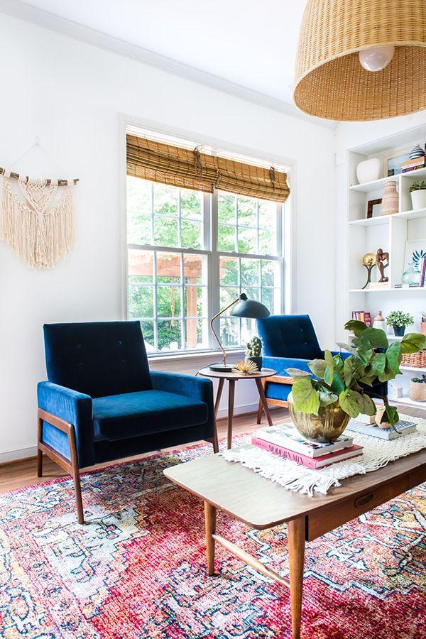Nord Cascadia Blue Chair Velvet Chairs Living Room Living Room