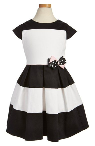 Little Angels Colorblock Cap Sleeve Dress (Toddler Girls & Little Girls)