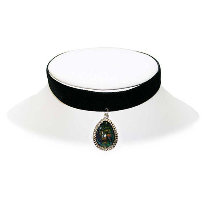 Extreme Largeness Abalone humeur steen hanger aan choker ketting van b