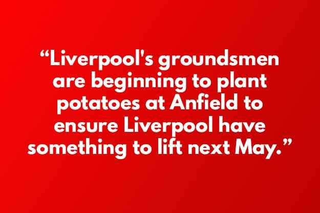 Nobody had told us about these extreme measures at Anfield…