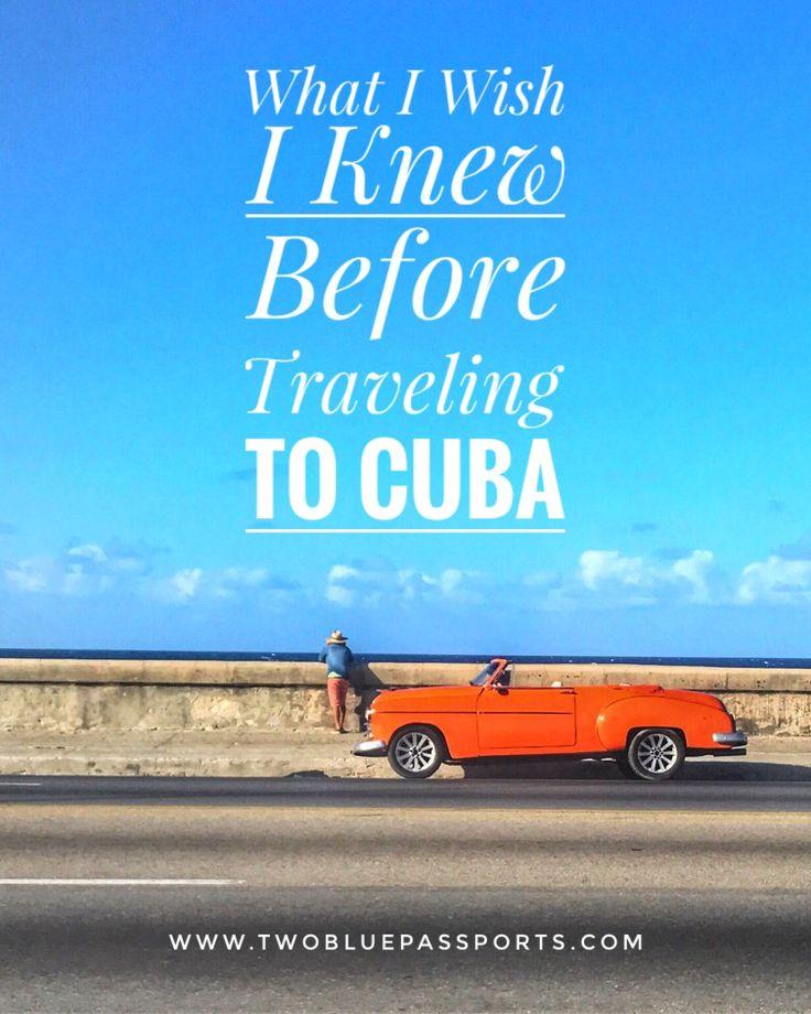What I Wish I Knew Before Traveling To Cuba Travel Size Pinterest Kuba Kuba Reisen And