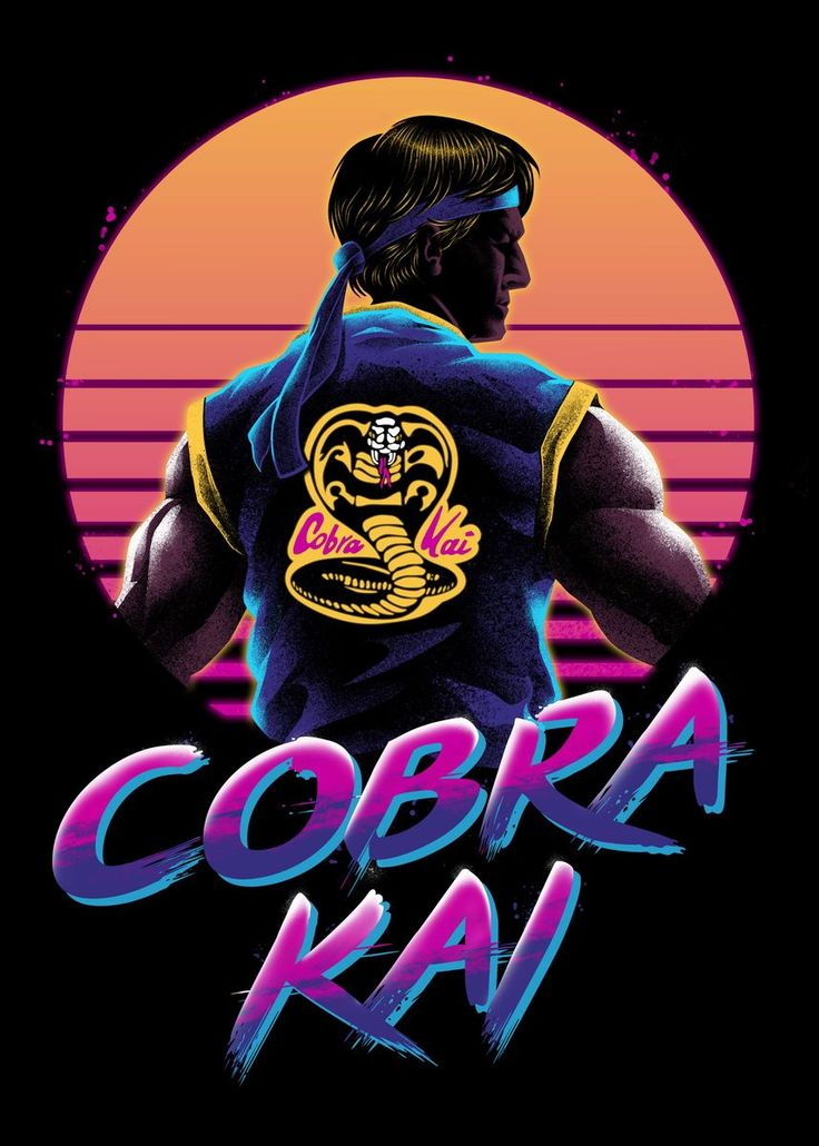 'Rad Cobra Kai' Poster by vp trinidad | Displate | Karate ...