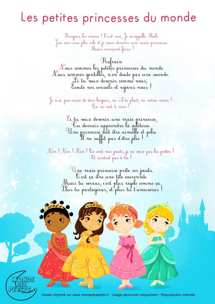 Partition_Les petites princesses du monde, chanson pour enfants