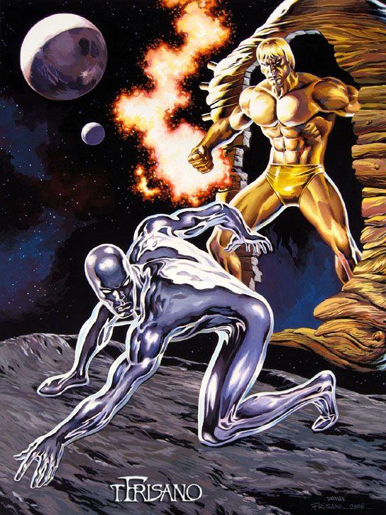 Silver Surfer vs Adam Warlock by Thomas Frisano