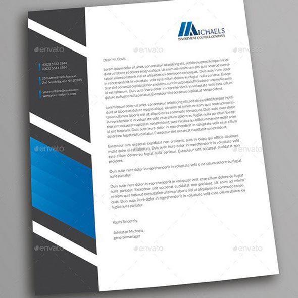 Letterhead Letterhead, Letterhead design and Corporate business - letterhead example