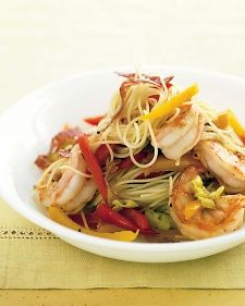 Capellini with Shrimp, Peppers, and Salami | Recipe
