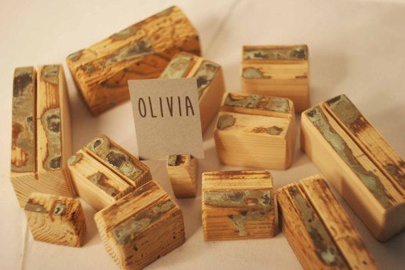 Rustic place card holders 40 pieces Wedding card by SnakeInChest