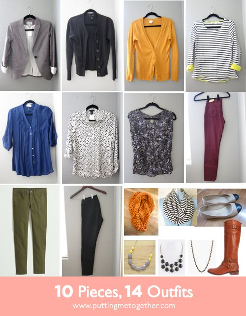 Putting Me Together: 10 Pieces, 14 Outfits - Fall Packing 2013