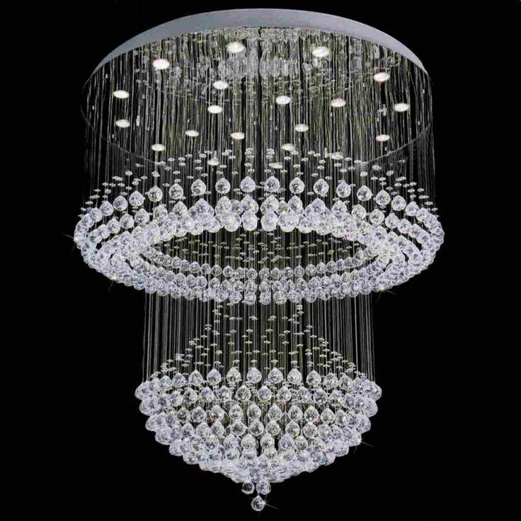 The 25 best modern crystal chandeliers ideas on pinterest attractive lighting for foyer modern foyer crystal chandelier mirror stainless steel chandeliers inspiration aloadofball Images