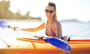 Groupon - Two- or Four-Hour Rental of Single or Double Kayak at Destination Water Sports Carolinas (Up to 41% Off) in Long Cove Marina - Lake Wylie. Groupon deal price: $19