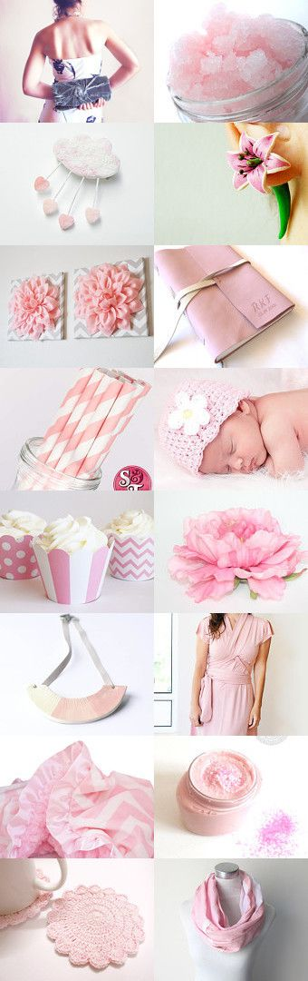 #treasury I believe in #pink on #Etsy--Pinned with TreasuryPin.com