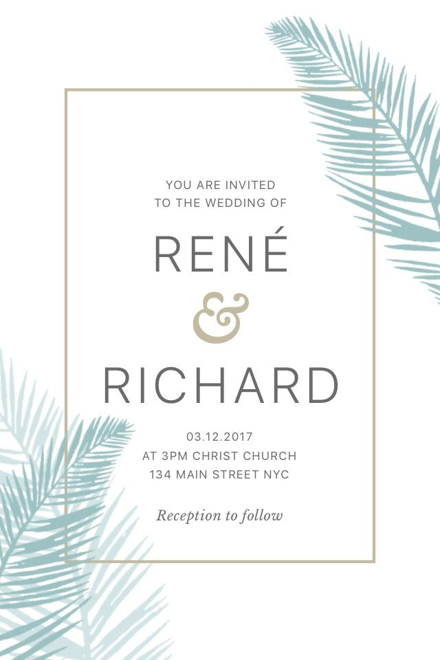 Wedding Invite - Renè & Richard  #madewithover  Download and edit your own pins in Over today.