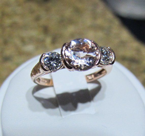 2ct Three Stone Ring Vintage Top Russian Quality Extra Brilliant  CZ Size 11