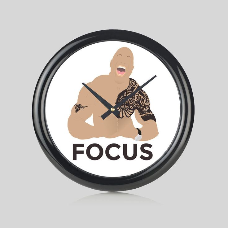 The Rock Man Of The Century Muscle & Fitness Round Wall Clock Bedroom – Kituout Store