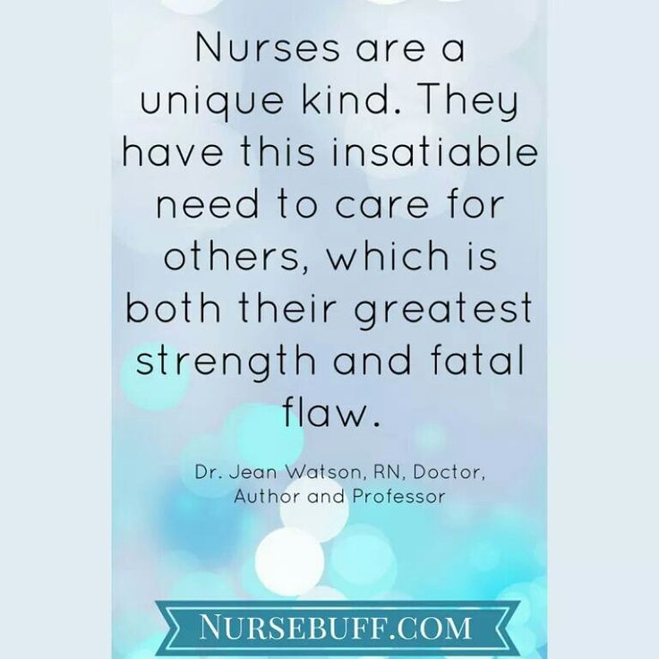 There is more truth in this than any other nursing comment, quote, or meme that I have ever seen.  ''Tis a love like no other, and a fatal flaw all at once.  ~S~