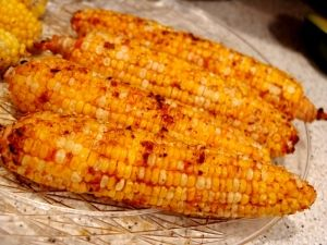 "Franks Red Hot Sauce Grilled Corn - Another one of those ""why didn't I think of that?"" recipes."