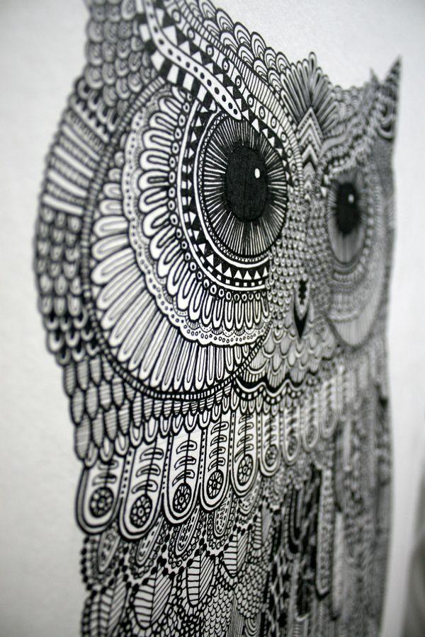 Owl Illustration 2.0 on the Behance Network