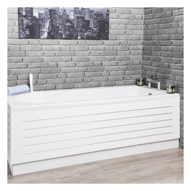 Ceramica White Stainless Steel Strip Bath Side Panel 1700mm