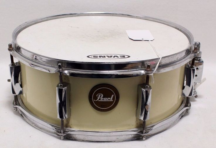 "14"" Pearl SST Limited Edition Snare Drum Off White Cream Color Evans skin Band #Pearl #snare #drum #for #sale #white"