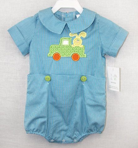 291679 - Newborn Romper ~ Baby Bubble Romper ~ Baby Boy Clothes ~ Boys Easter Outfit ~ Easter Clothing ~ Twin Babies ~ Toddler Twins