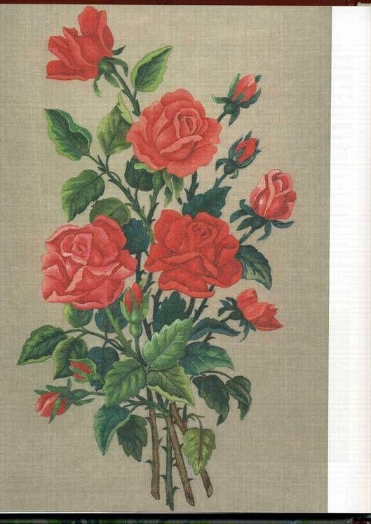 Иллюстрация 10 из 10 для Живописная вышивка гладью. Цветы и плоды - Вероника Королева   Лабиринт - книги. Источник: * Ольга *