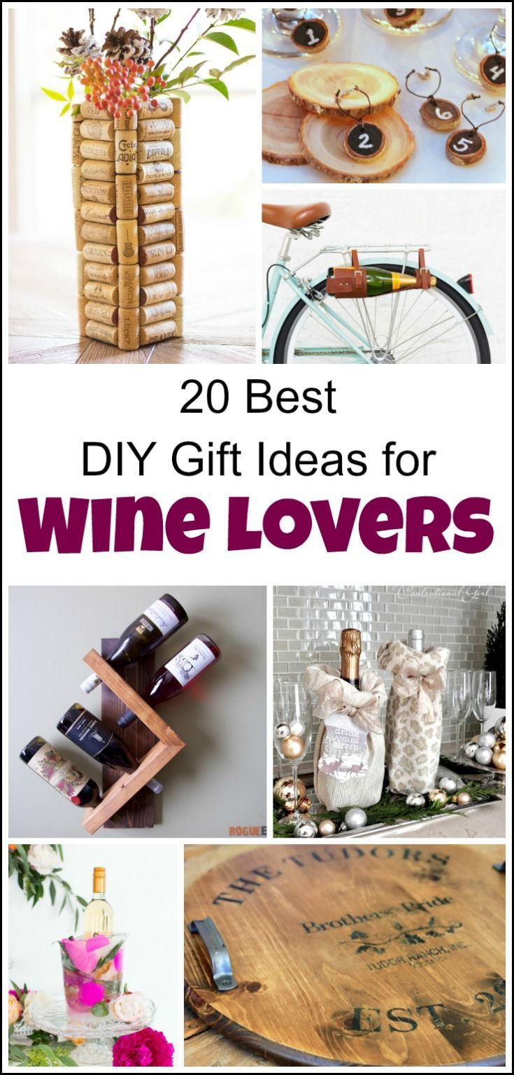 20 of the best diy gift ideas for wine lovers | easy homemade gifts