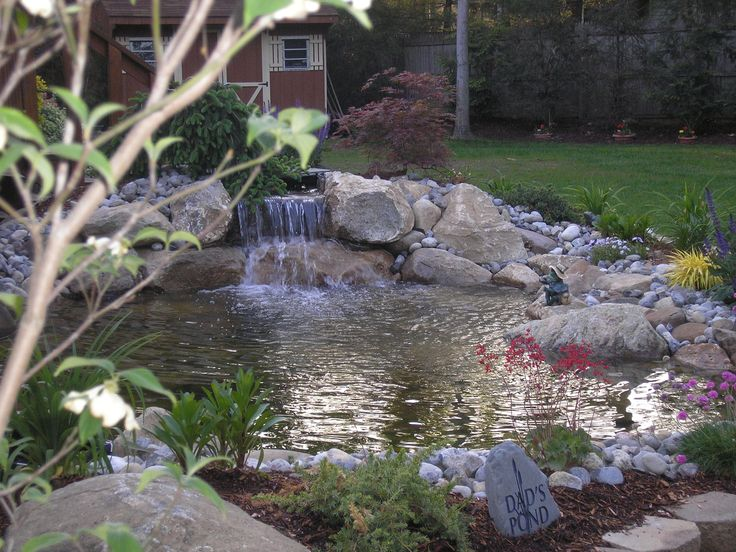 72 Best Images About Fish Ponds On Pinterest Backyard Waterfalls Pond Waterfall And Backyard