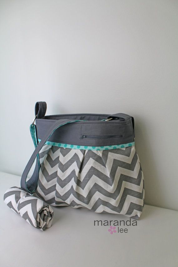 Stella DELUXE Chevron Diaper Bag Set Large with by marandalee,