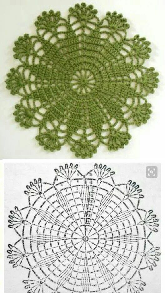 What a pretty crocheted doily... it reminds me of many years ago when I started crocheting and these patterns were so popular. Have to keep this one...