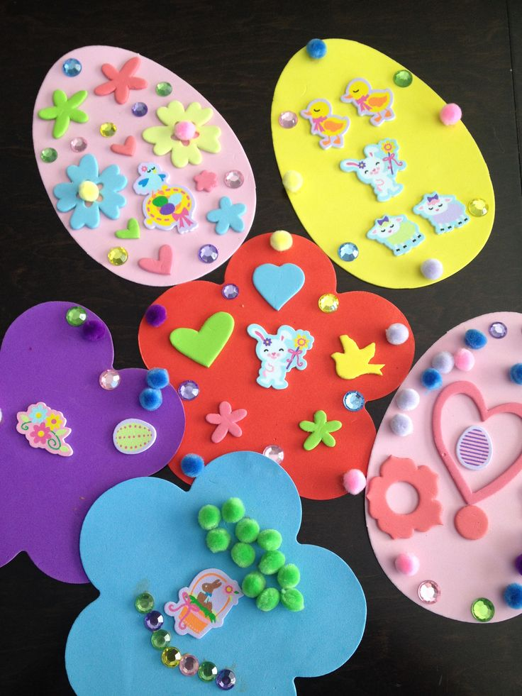 Easter crafts with foam sheets and stickers you could also for Foam sheet christmas crafts