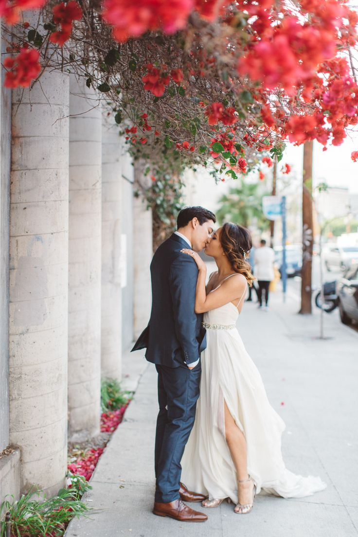 Gowns in downtown los angeles - Modern Downtown Los Angeles Wedding