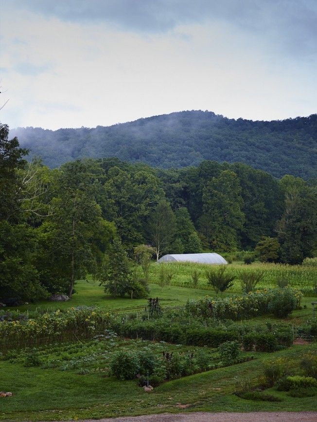 The garden at Blackberry Farm located in the foothills of East Tennessee's Great Smoky Mountains