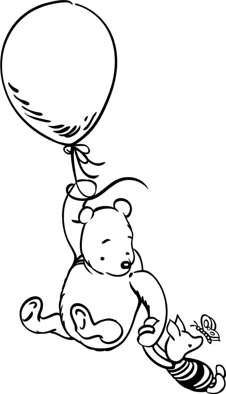 classic art coloring pages   Classic Winnie the Pooh vinyl wall decal by ...