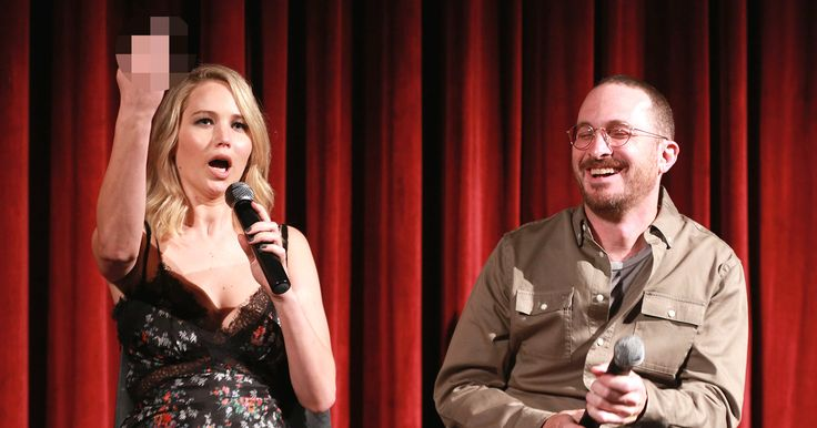 Jennifer Lawrence Gives mother! Haters the Middle Finger at Screening  Well, that's one way to greet a crowd. Jennifer Lawrence and her director-turned-boyfriend Darren Aronofsky attended an Academy screening in New York of their new film mother! on Thursday. And while the film recently got slapped with a rareF ratingfrom audience polling service CinemaScore, the couple proved they aren't afraid to clap back at the haters. During the Q&A portion of the night at the Museum of Modern..