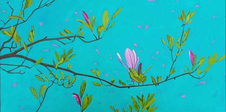 Magnolia Magic   Oil on Panel  #magnolia #pinkmagnolia #magnoliatree #pink #pleinair #painting #oilpainting
