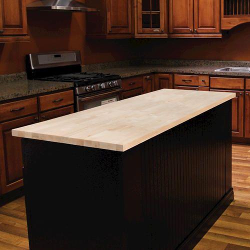 "Kitchen Countertops Wood And Butcher Block: Butcher Block Top 25"" Wide X 96"" Long At Menards $159"